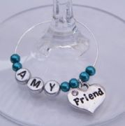 Friend Personalised Wine Glass Charm